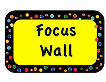 Reading Street Focus Wall Headers