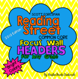 Reading Street Focus Wall Headers (Bright Colors)