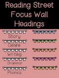 Reading Street Focus Wall Headings