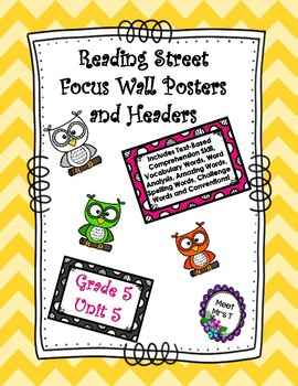 Reading Street Focus Wall Posters Grade Five Unit Five