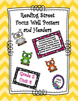 Reading Street Focus Wall Posters Grade Five Unit Four