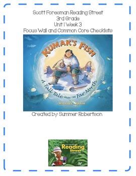 Reading Street Focus Wall- U1W3 Kumak's Fish