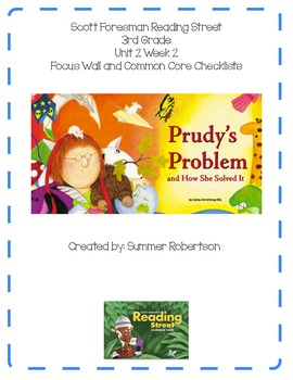 Reading Street Focus Wall U2W3 Purdy's Problem and How She Solved It