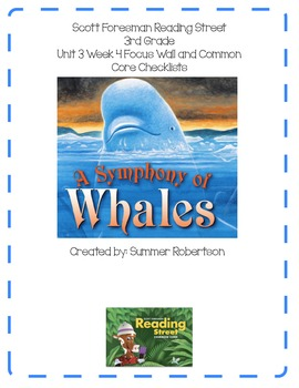 Reading Street Focus Wall U3W4 A Symphony of Whales