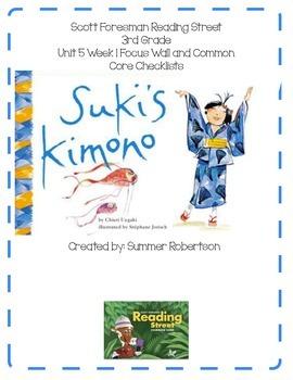Reading Street Focus Wall U5W1 Suki's Kimono