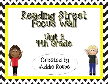 Reading Street Focus Wall - Unit 2 (4th Grade, ALL CONTENT!)