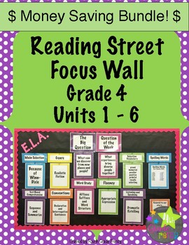 Reading Street Focus Wall Units 1-6 Bundle