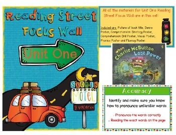 Reading Street Focus Walls BUNDLE Third Grade Units 1-6