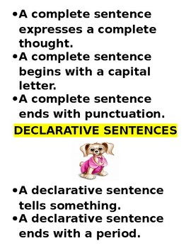 Reading Street Fourth Grade ~ Declarative and Interrogative Sentences' Packet