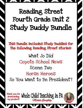 Reading Street Fourth Grade Unit 2 Study Buddy BUNDLE
