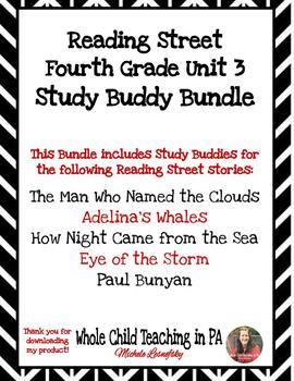 Reading Street Fourth Grade Unit 3 Study Buddy BUNDLE