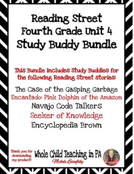Reading Street Fourth Grade Unit 4 Study Buddy BUNDLE