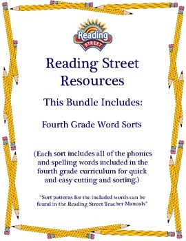 Reading Street - Fourth Grade Word Sorts
