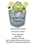 Reading Street Frog and Toad Activity Pack