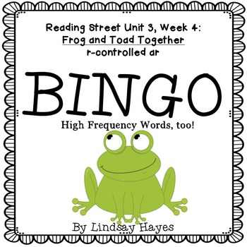 Reading Street: Frog and Toad Together BINGO r-controlled ar