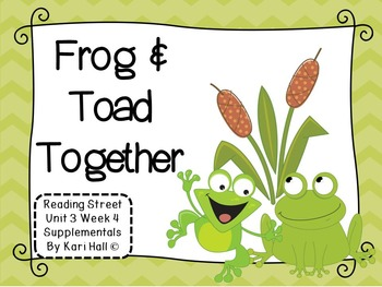 Reading Street Frog and Toad Together Unit 3 Week 4 Differentiated first grade