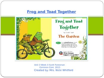 "Reading Street ""Frog and Toad Together"" Weekly PowerPoint"