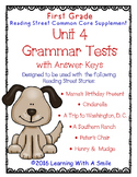 Reading Street GRADE 1 Supplement -  Grammar Tests UNIT 4