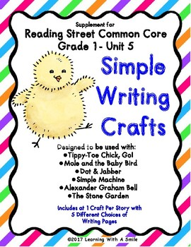 #stockupsale Reading Street GRADE 1 WRITING CRAFTS for Unit 5