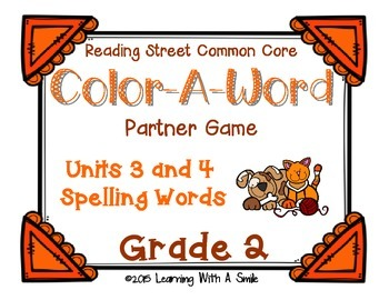 Reading Street GRADE 2 Spelling (Units 3 & 4): Color-A-Wor