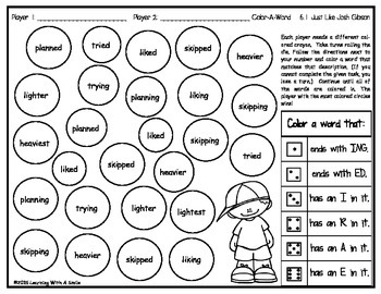 Reading Street GRADE 2 Spelling (Units 5 & 6): Color-A-Word Partner Game