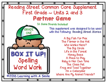 Reading Street 1st Grade Word Game BOX IT UP! (Units 2 & 3)