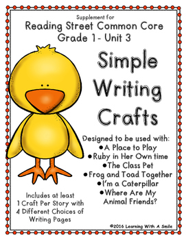 Reading Street GRADE 1 WRITING CRAFTS for Unit 3