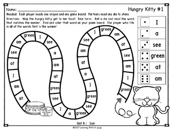 Reading Street Games FIRST GRADE Units R-5 HIGH FREQUENCY Partner Games