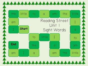 Reading Street Games Supplemental Resource - Kindergarten Sight Words Units 1-5
