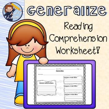 Generalizing Reading Comprehension Worksheet