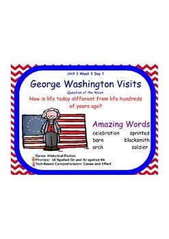 Reading Street George Washington Visits Flipchart Days 1-5