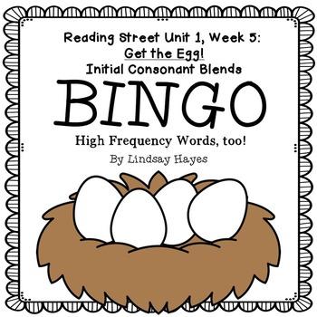 Reading Street: Get the Egg! BINGO Initial Consonant Blends