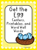 Reading Street, Get the Egg!, Centers, Printables, and Word Wall Words