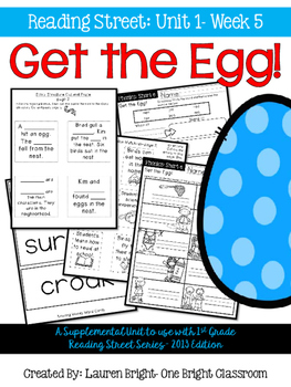 Reading Street- Get the Egg! Supplemental Unit {Unit 1: Week 5}