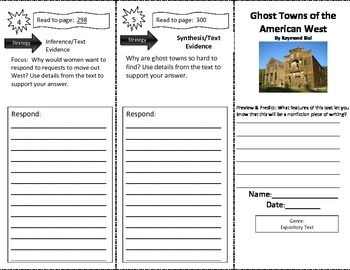 Reading Street: Ghost Towns of the American West Close Read Trifold