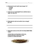 Reading Street Gr. 3- Amazing Bird Nests Assessment