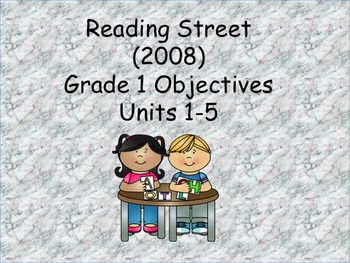 Reading Street Grade 1 (2008) Objectives and common core standards