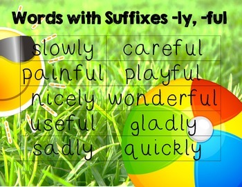 Reading Street Grade 1 4.6 Words with Suffixes -ly, -ful