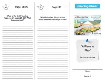 Reading Street - Grade 1: ALL UNITS Trifold Bundle (36)