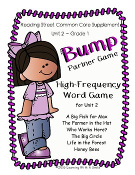 Reading Street Grade 1 BUMP High-Frequency Partner Game Unit 2