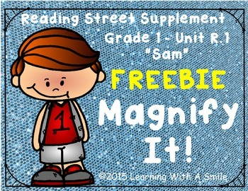 Reading Street Grade 1 FREEBIE Magnify It! ~ Find the Hidd
