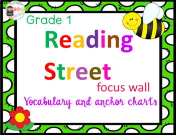Reading Street Grade 1 Focus Wall and anchor posters for Common Core Literacy