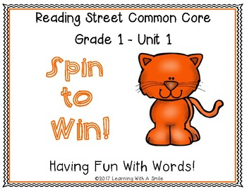 Reading Street Grade 1 ~ SPIN TO WIN! ~ Unit 1 Partner Word Game