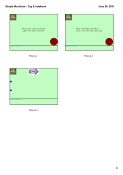Reading Street Grade 1 Simple Machines - Day 2