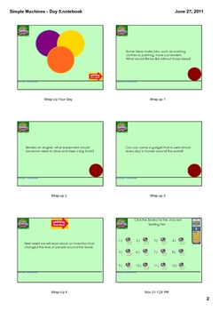 Reading Street Grade 1 Simple Machines - Day 5