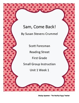 Reading Street Grade 1 Small Group Packet Unit 1 Week 1, Sam, Come Back!