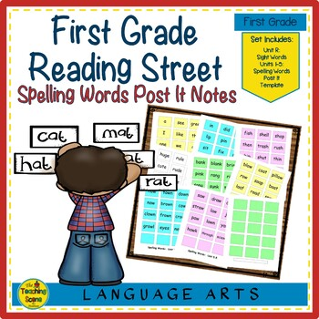 First Grade Reading Street Spelling Words Post Its