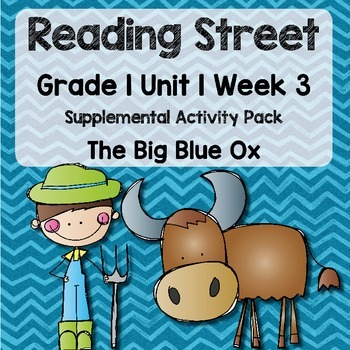 Reading Street - Grade 1 Unit 1 Week 3 Activity Pack