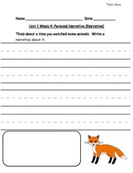 Reading Street Grade 1 Unit 1 Writing Prompts