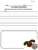 Reading Street Grade 1 Unit 1 Writing Prompts